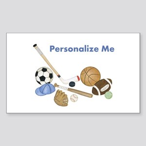 Personalized Sports Sticker (Rectangle)