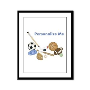 Personalized Sports Framed Panel Print