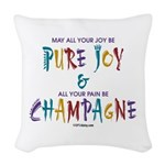 Champagne Woven Throw Pillow