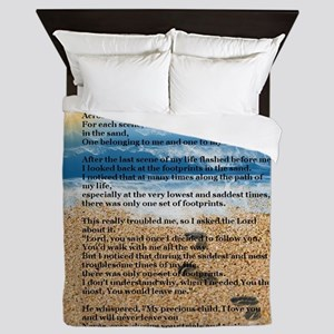 Footprints in the Sand Queen Duvet