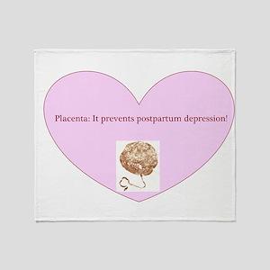 Power of placenta Throw Blanket
