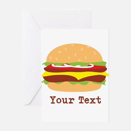 Hamburger, Cheeseburger Greeting Cards