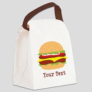 Hamburger, Cheeseburger Canvas Lunch Bag