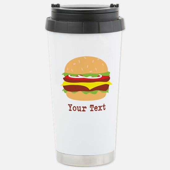 Hamburger, Cheeseburger Travel Mug