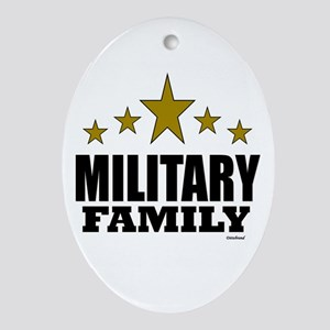 Military Family Ornament (Oval)
