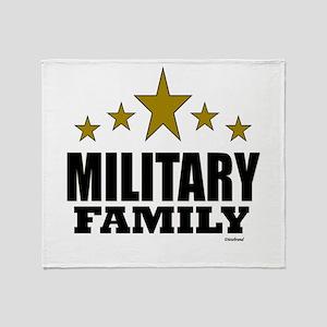 Military Family Throw Blanket