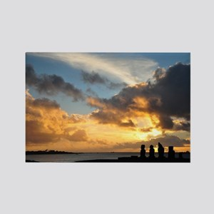Easter Island Sunset 1 Magnets