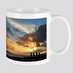 Easter Island Sunset 1 Mugs