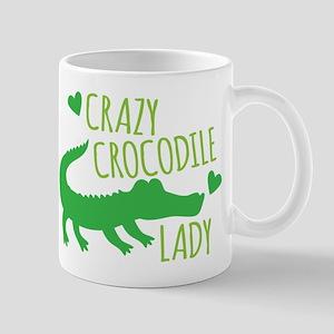 Crazy Crocodile Lady Mugs