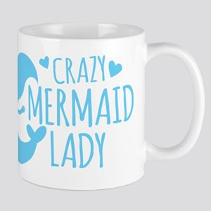 Crazy Mermaid Lady Mugs