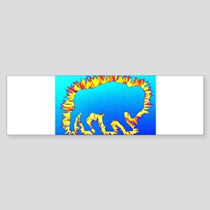 Buffalo Splash Blue Bumper Sticker