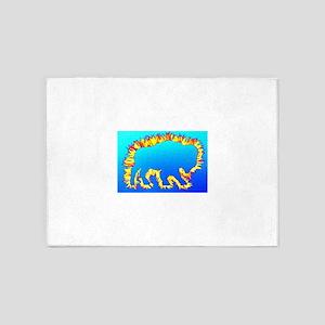 Buffalo Splash Blue 5'x7'Area Rug