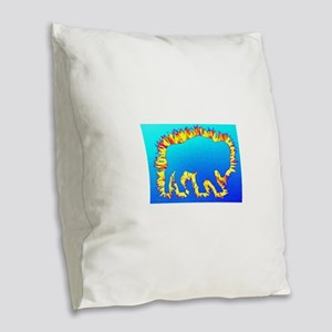 Buffalo Splash Blue Burlap Throw Pillow