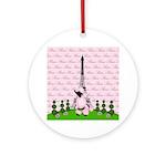French Poodle Paris Ornament (Round)