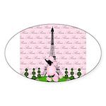 French Poodle Paris Sticker