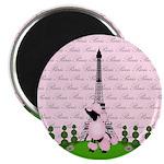 French Poodle Paris Magnets