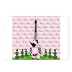 French Poodle Paris Postcards (Package of 8)