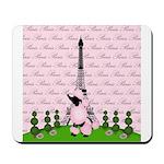 French Poodle Paris Mousepad