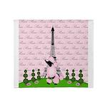 French Poodle Paris Throw Blanket