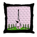 French Poodle Paris Throw Pillow