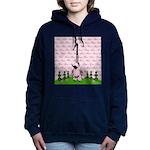 French Poodle Paris Women's Hooded Sweatshirt