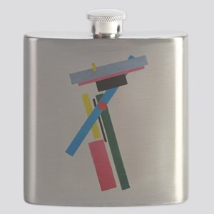 Malevich Abstract Rectangles Russian Artist Flask