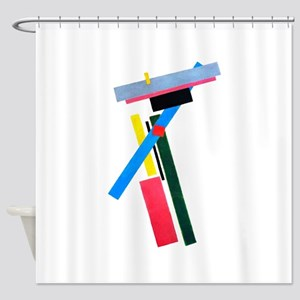 Malevich Abstract Rectangles Russia Shower Curtain