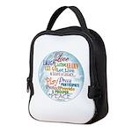 Global Peace Neoprene Lunch Bag