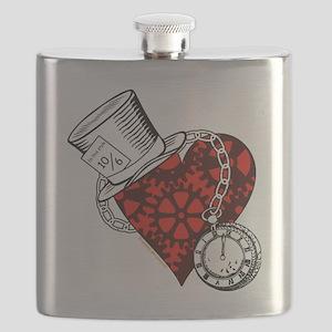 Steampunk Wonderland Flask