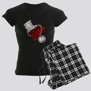 Steampunk Wonderland Women's Dark Pajamas