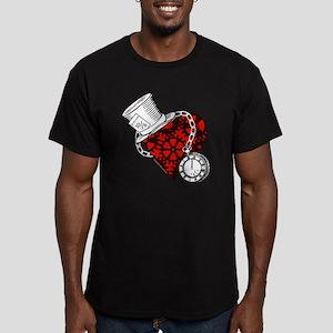 Steampunk Wonderland Men's Fitted T-Shirt (dark)