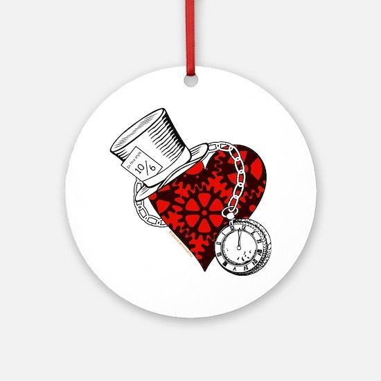 Steampunk Wonderland Round Ornament