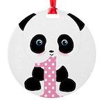 Panda Bear 1st Birthday Ornament