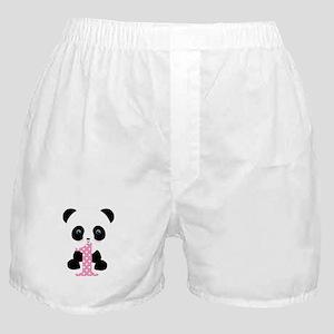 Panda Bear 1st Birthday Boxer Shorts