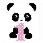 Panda Bear 1st Birthday Square Car Magnet 3