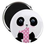 Panda Bear 1st Birthday Magnets