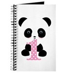 Panda Bear 1st Birthday Journal