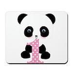 Panda Bear 1st Birthday Mousepad