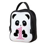 Panda Bear 1st Birthday Neoprene Lunch Bag