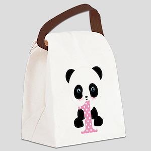 Panda Bear 1st Birthday Canvas Lunch Bag