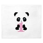 Panda Bear 1st Birthday King Duvet