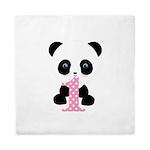 Panda Bear 1st Birthday Queen Duvet