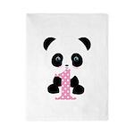 Panda Bear 1st Birthday Twin Duvet