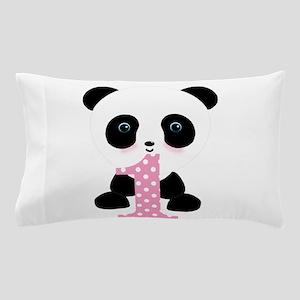Panda Bear 1st Birthday Pillow Case