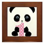 Panda Bear 1st Birthday Framed Tile