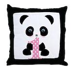 Panda Bear 1st Birthday Throw Pillow