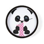 Panda Bear 1st Birthday Wall Clock