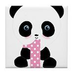 Panda Bear 1st Birthday Tile Coaster