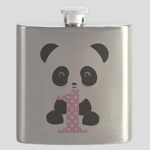 Panda Bear 1st Birthday Flask