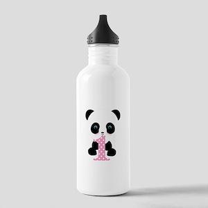Panda Bear 1st Birthday Water Bottle